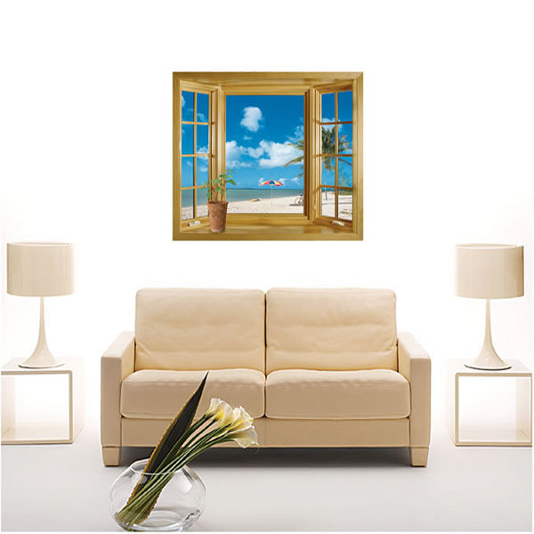 BO雜貨【YV0676】DIY時尚裝飾組合可移動壁貼 牆貼 壁貼 創意壁貼 風景窗 JM8012