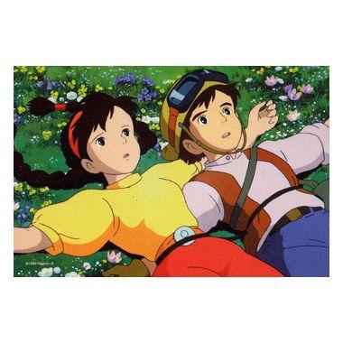 【進口拼圖】宮崎駿-天空之城 躺在草地上 150pcs ES150-G05