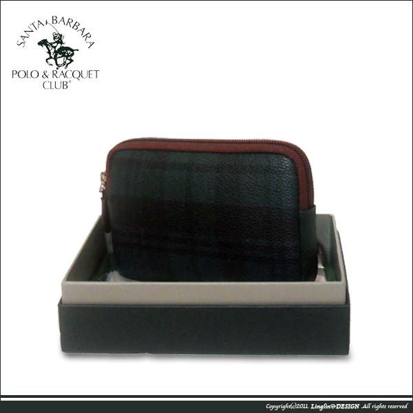 【Santa Barbara Polo聖大保羅】綠格紋1內袋零錢包SB38-06607