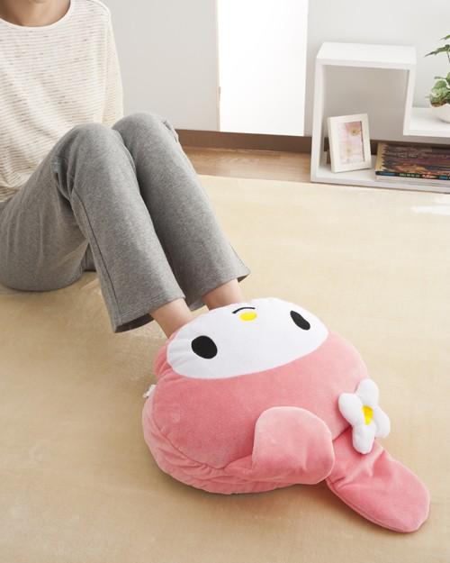『日本代購品』美樂蒂款 充電式暖腳枕暖手枕舒適溫暖