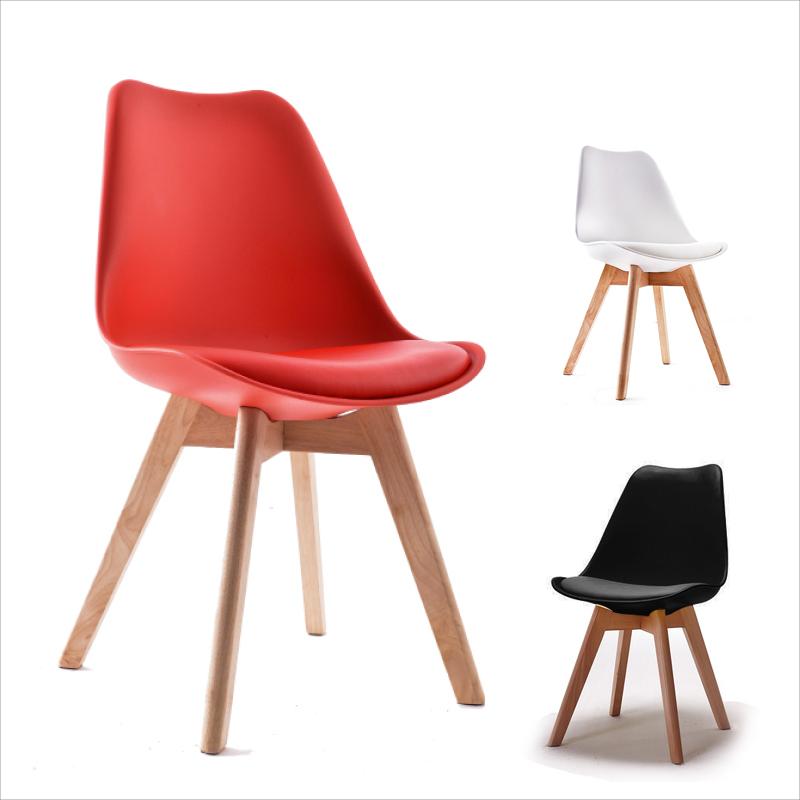 【名流精品寢飾館】伯特時尚造型椅 北歐復刻經典款  櫸木實木餐椅 書桌椅 皮面椅 現代簡約 台灣製