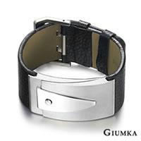 送刻字服務【GIUMKA個性潮男】金屬搖滾風德國精鋼真皮手環 個性潮男款 單個價格 MB00665