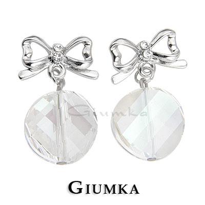 【GIUMKA】優雅蝴蝶結 採用施華洛世奇水晶元素 精鍍正白K 半寶鋯石 四色任選 一對價格 MF00072