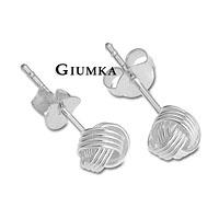 【GIUMKA】四線球狀耳環 925純銀 抗敏耳針式耳環 5MM/6MM 名媛淑女款 一對價格