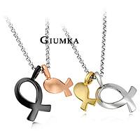 【GIUMKA】雙魚神話項鍊 男女情人對鍊 精鍍正白K 單個價格/附白鋼鍊