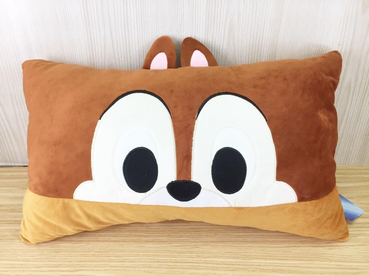 【真愛日本】15121700023  大臉雙人枕-奇奇 迪士尼 奇奇蒂蒂 花栗鼠 抱枕 靠枕 枕頭 娃娃