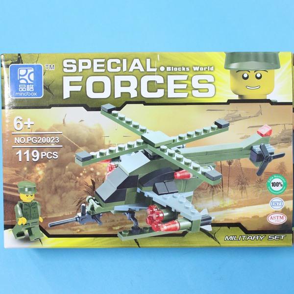 品格積木 PG20023 軍事直升機積木/一盒入{促120}~CF123597