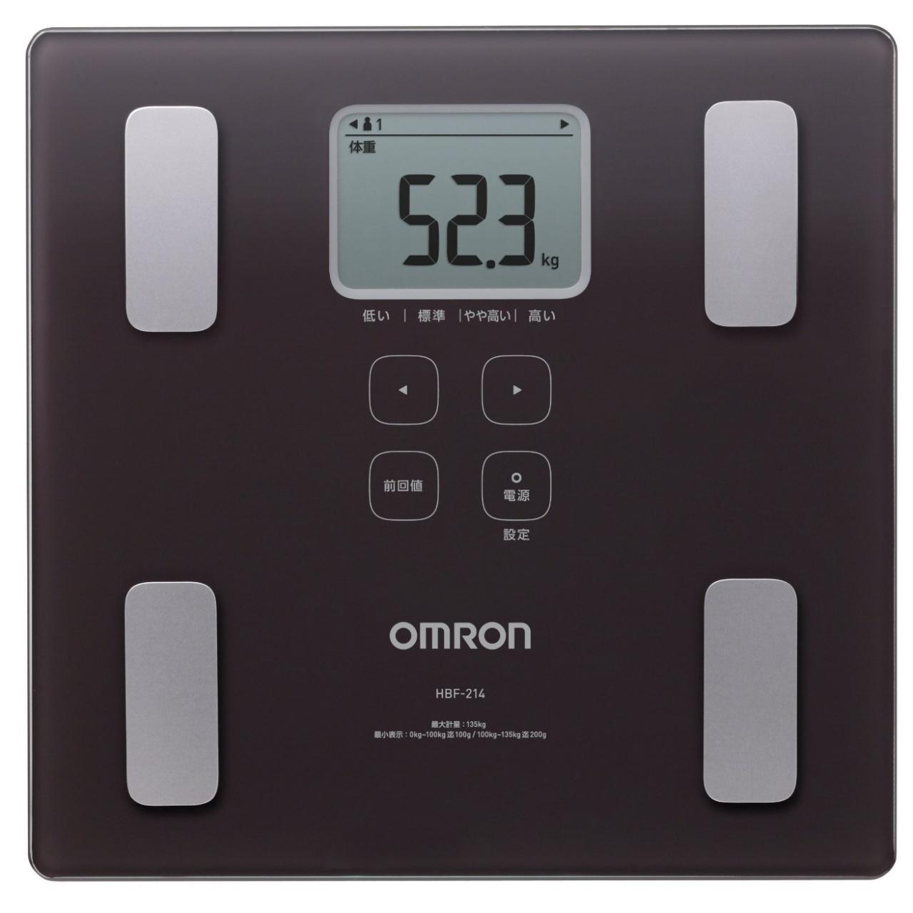 OMRON歐姆龍體脂肪計HBF-214(咖啡色)
