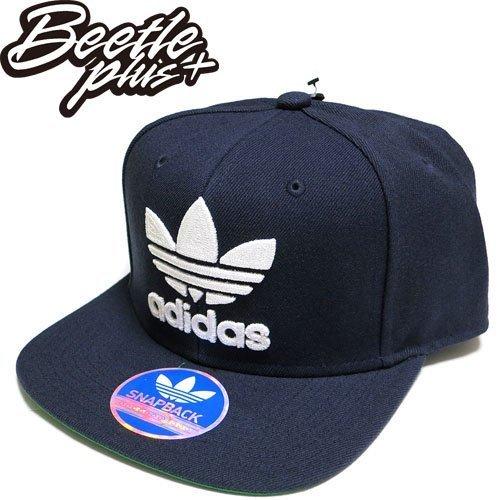超熱賣 BEETLE ADIDAS ORIGINALS THRASHER 深藍 白 後扣棒球帽 貝克漢 SNAPBACK AN7697 NT-97