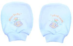 【蜜妮寶貝嬰童用品館】棉布手套 / 藍色、黃色、粉紅