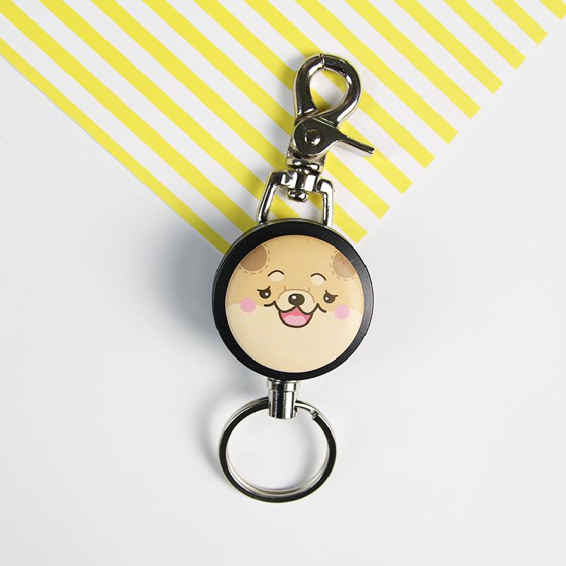 i cure -i好溜鑰匙扣環系列-滿滿系列-鬆獅狗  鑰匙圈 伸縮拉環 伸縮鋼線