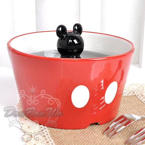 迪士尼米奇碗陶瓷碗醃漬罐容器頭型褲裝234692海渡