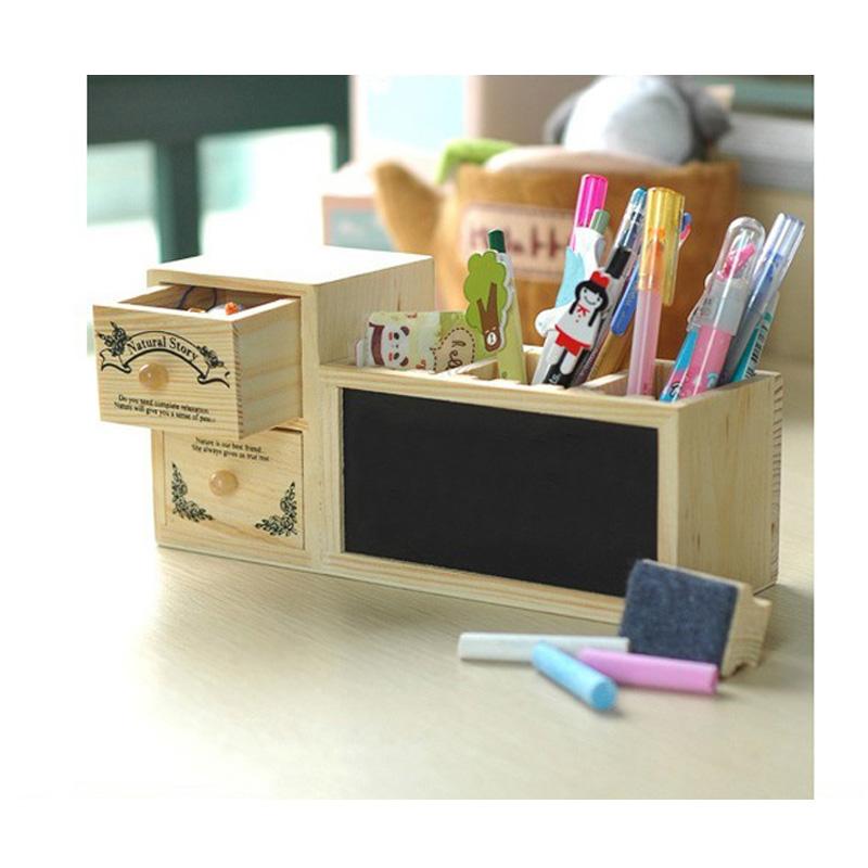 韓款創意留言板 木頭文具筆架置物收納 學生交換禮物 生日禮品居家書房文具