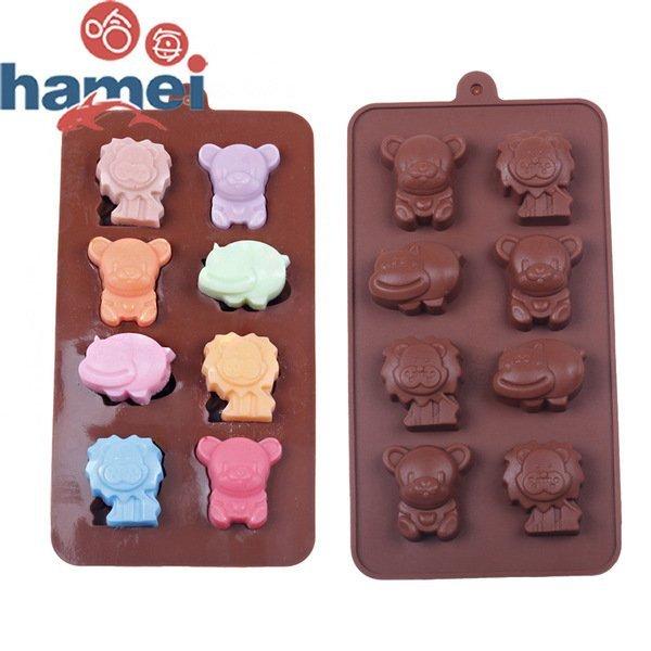 =優生活=食用級矽膠蛋糕模具 獅子小狗河馬動物造型冰格 巧克力冰格 製冰格 製冰盒 果動模具 蛋糕模具