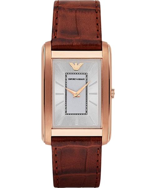 EMPORIO ARMANI/AR1870復古雅痞方形時尚腕錶/白面39*32mm