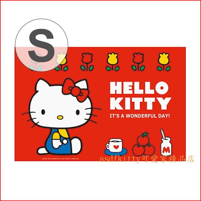 asdfkitty可愛家☆KITTY紅藍版野餐墊/沙灘墊-60*90公分-防水材質-日本正版商品