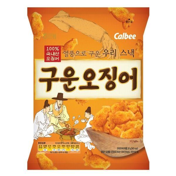 韓國餅乾 海太Calbee 卡樂比 魷魚造型餅乾