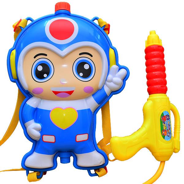 【戲水趣】背包水槍-蔚藍小超人