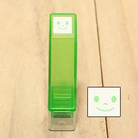 「Kodomo小孩牌」手帳小印章 - 211幸福笑臉(綠)