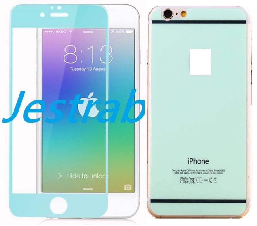 "Jestrab iPhone6 4.7"" Tiffany綠鋼化玻璃貼套裝(正+反)"