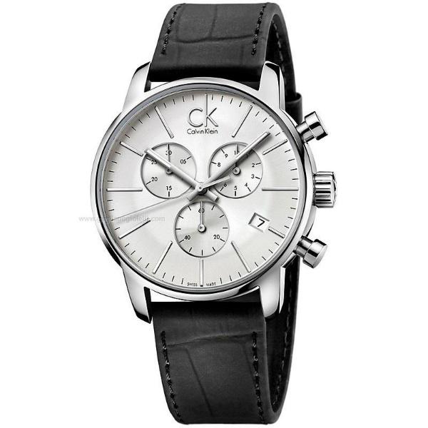 CK 都會系列(K2G271C6)都會時尚計時腕錶/白面43mm