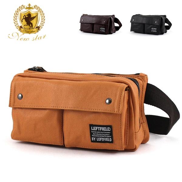 腰包 日系防水質感雙口袋雙層側背包斜背包帆布包 NEW STAR BW21