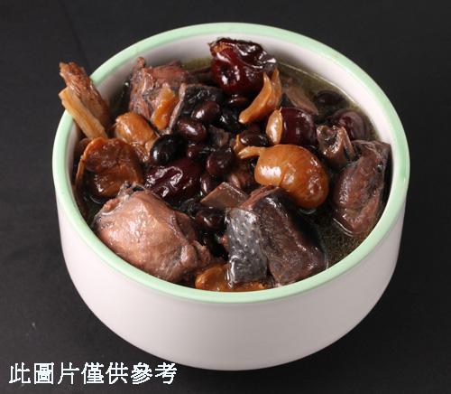 何首烏黑豆桂圓煲雞
