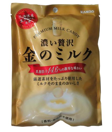 Kanro 濃厚奢華金色牛奶糖