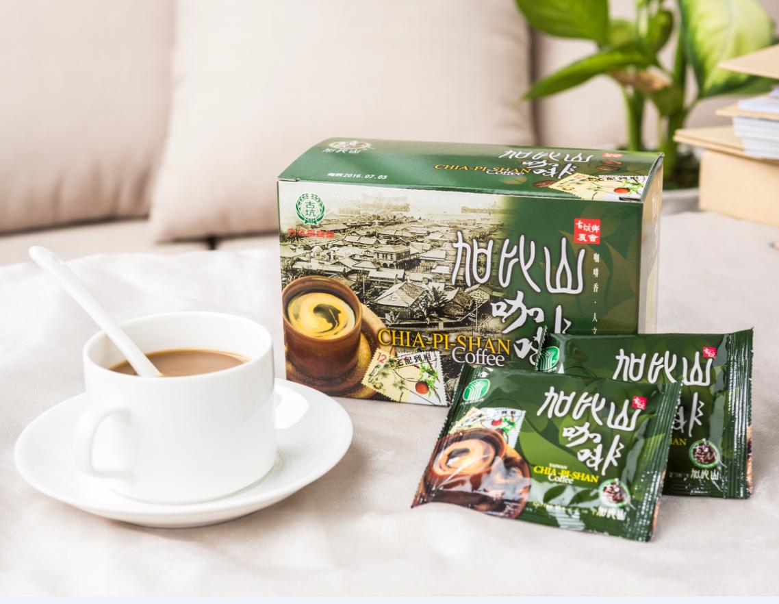 古坑鄉農會 加比山二合一咖啡 即溶咖啡 無糖 隨身包 (12g*18包)一盒