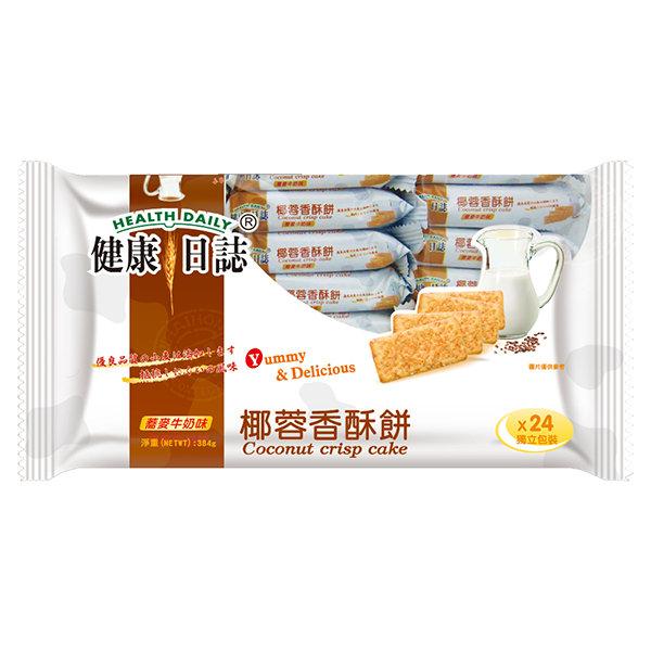 【橘町五丁目】健康日誌椰蓉香酥餅384g-24獨立包-蕎麥奶油味