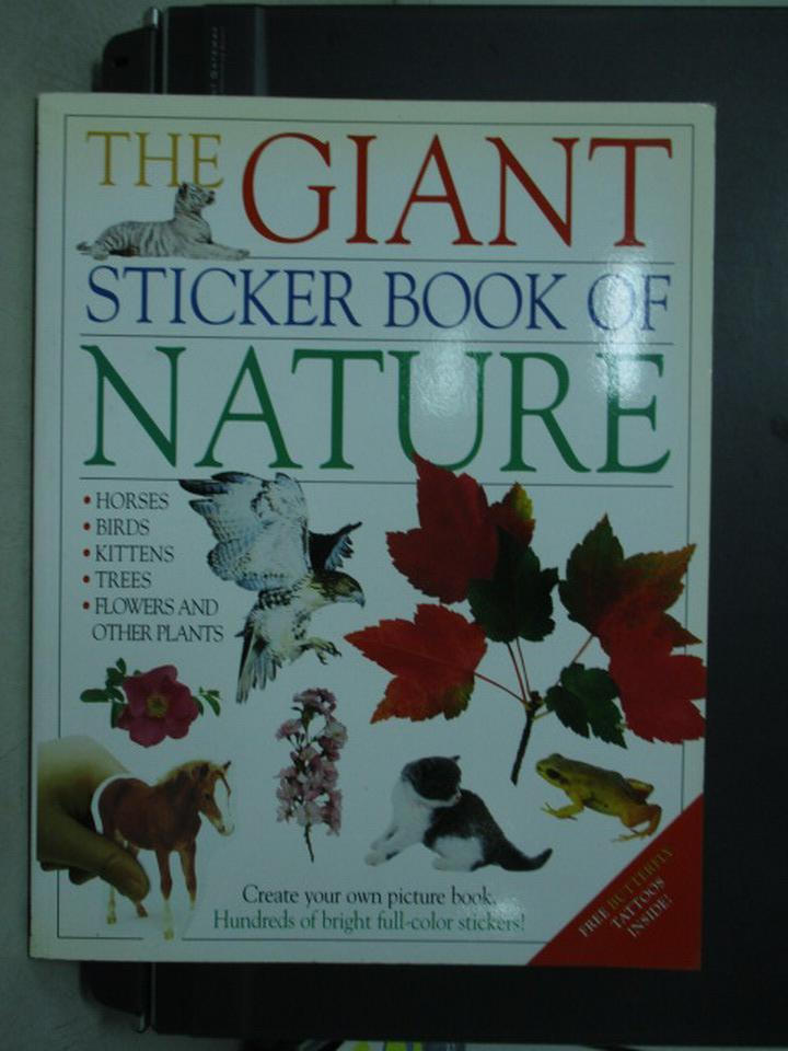 【書寶二手書T2/少年童書_QFW】The Giant sticker…Nature