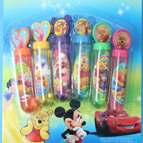 小熊維尼泡泡水 6入神奇吹泡泡水玩具 迪士尼正版授權/一卡6個入{促99}