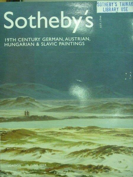 【書寶二手書T3/收藏_XDX】Sothebys_2004/6/15_19th Century German..