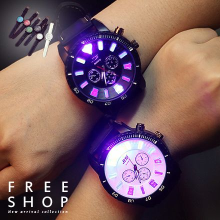 果凍錶 Free Shop【QFSGS9122】日韓系潮流糖果色系時尚LED感觸控式電子手環錶情侶錶運動錶果凍錶