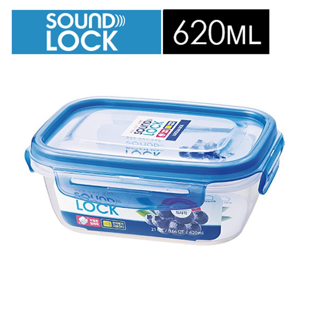 【樂扣樂扣】SOUNDLOCK系列輕巧保鮮盒/長方形620ML