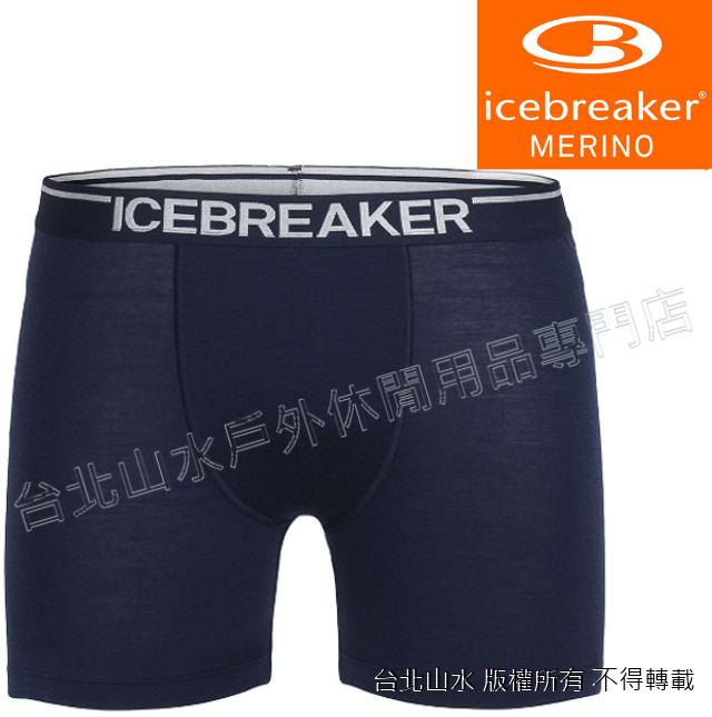 Icebreaker/羊毛內褲/四角內褲/排汗內褲BF150 Anatomica 103029-401 男海軍藍