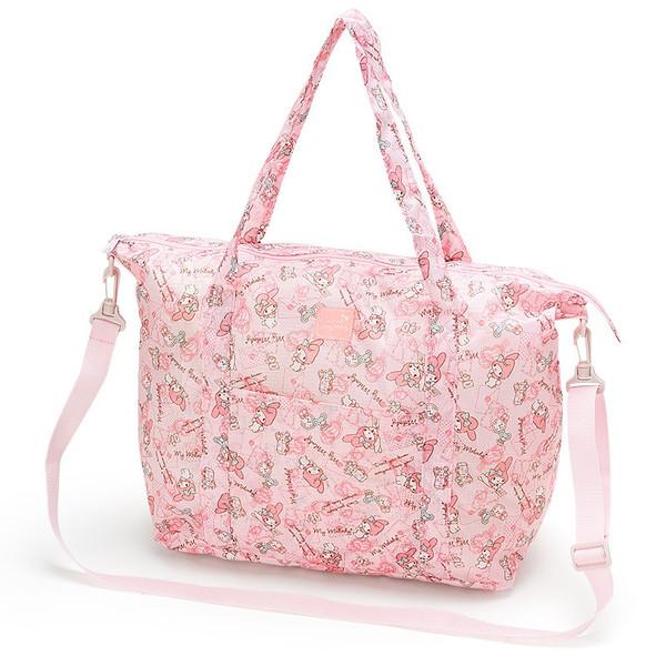 【真愛日本】16061600024可收納旅行袋M-MM粉信封    三麗鷗家族 Melody 美樂蒂   旅行袋 收納袋