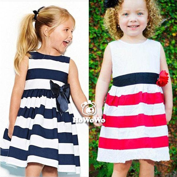 短袖洋裝 簡約條紋背心裙 連身裙 S33108