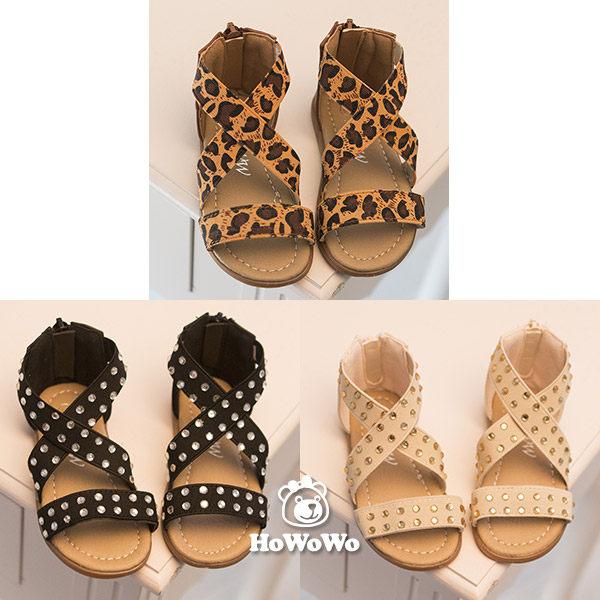 涼鞋 女童鬆緊帶涼鞋 公主鞋(15.5-18公分) KL13