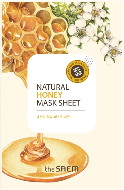 韓國the SAEM Natural 美顏蜂蜜面膜 21ml Natural Honey Mask Sheet (New)【辰湘國際】