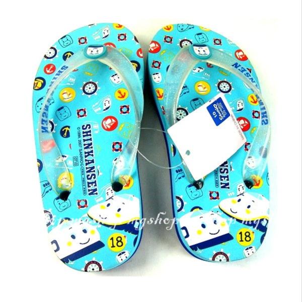 日本正版新幹線兒童夾腳拖鞋/海灘鞋18cm