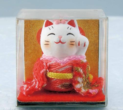 日本原裝 日本製 藥師窯招財貓系列-錦彩花飾招財貓7367/單售