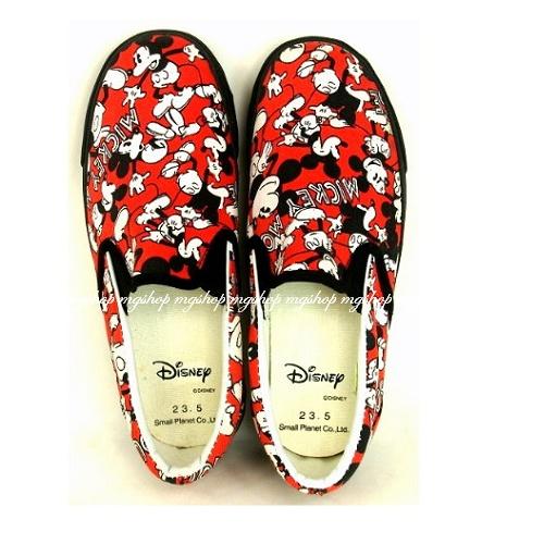 日本原裝迪士尼米奇帆布鞋/零碼出清23.5cm