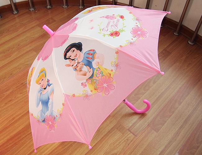 迪士尼兒童傘/雨傘/直傘 自動長柄 直柄-公主系列-3款