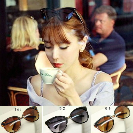 日韓歐美配件造型 墨鏡 太陽眼鏡 復古貓眼大框 韓劇星星款款