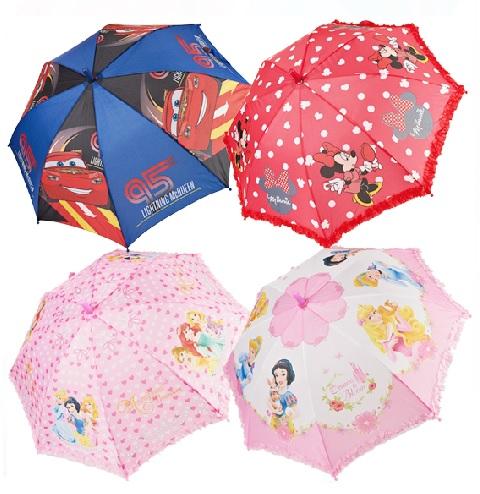 迪士尼兒童傘/雨傘/直傘 自動長柄 直柄/米妮公主花邊系列-3款
