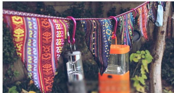 露營戶外佈置裝飾配件民族風三角旗