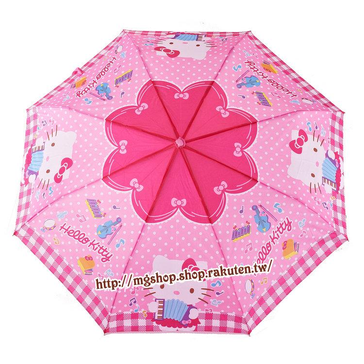 正版原裝 凱蒂貓 Hello Kitty 兒童雨傘 三折傘-KT拉手風琴款