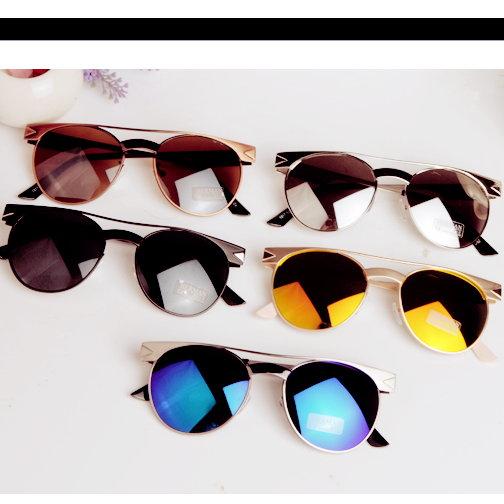日韓新款 金属太陽眼鏡女明星款男士太陽眼鏡墨鏡 M92/單售