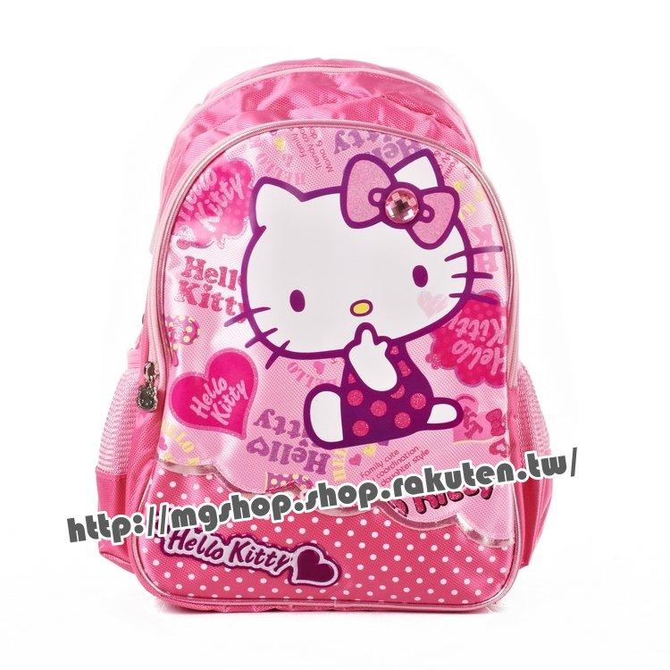 正版 Hello Kitty  凱蒂貓 幼稚園書包 後背包-側做愛心KT5007粉色款